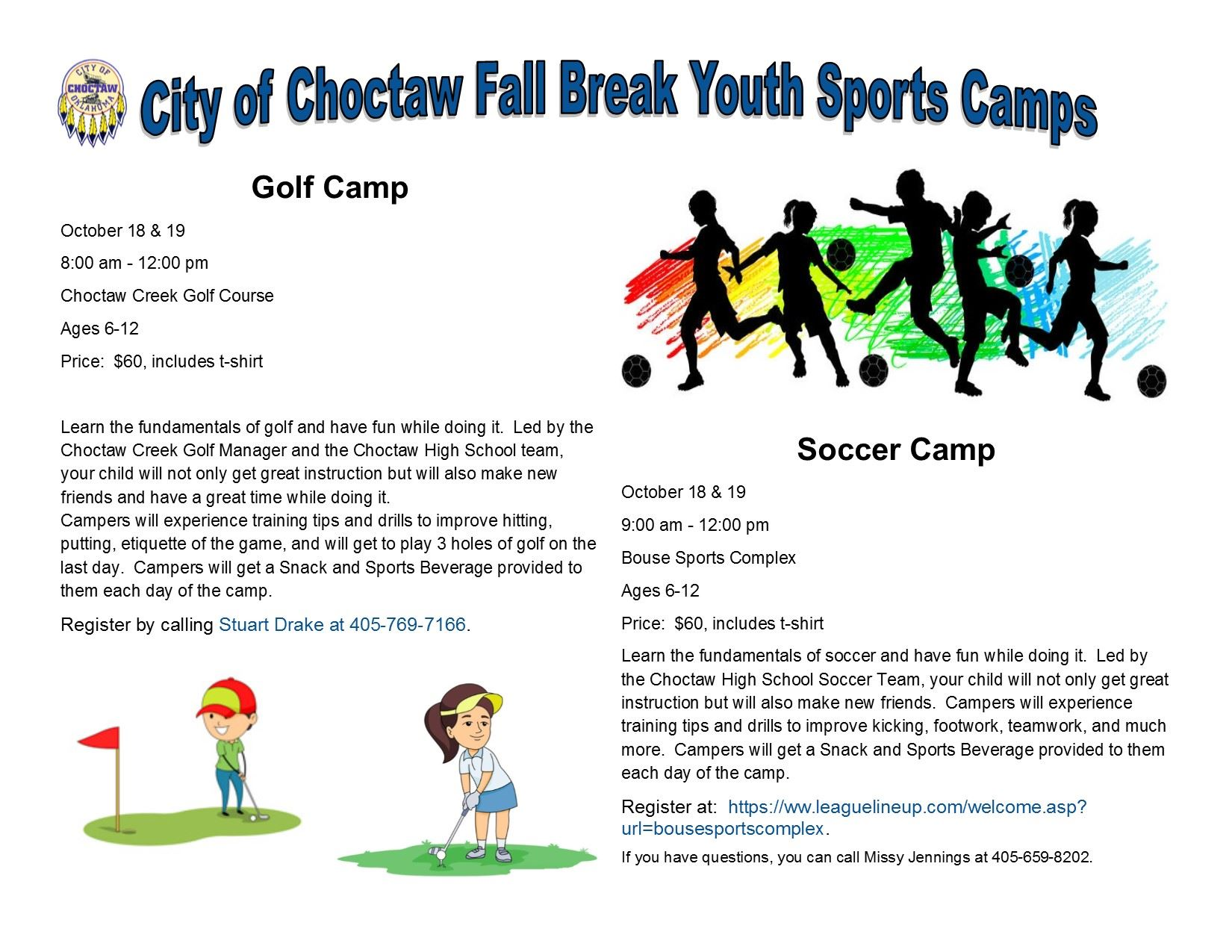 2018 Fall Break Youth Sports Camps