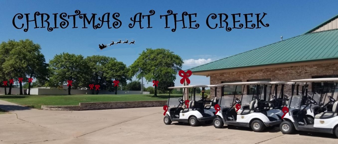 Choctaw Creek Golf Course decorated for Christmas clipart