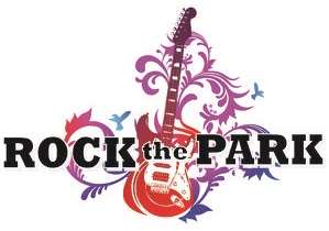 rock the park graphic of guitar