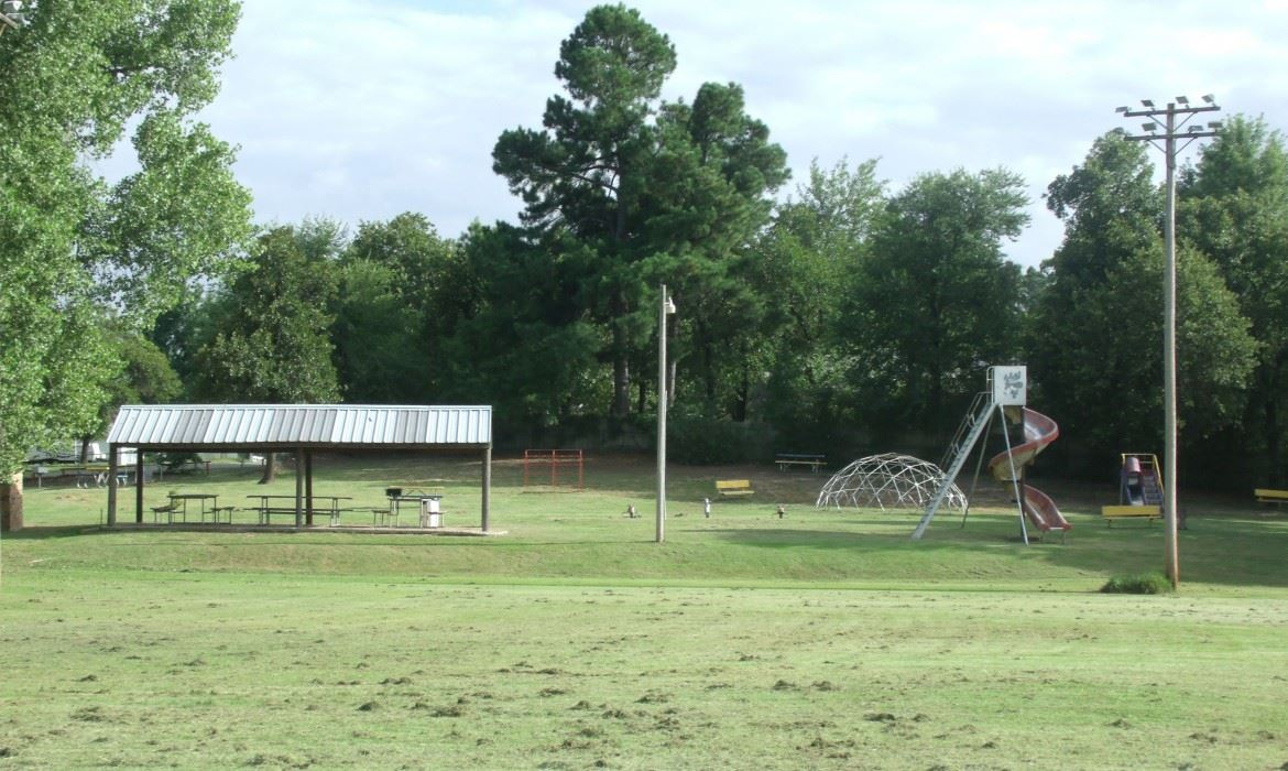 Optimist Park with pavilion and playground equipment 2