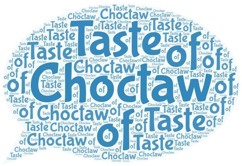 Word Art-taste of choctaw-talking bubble