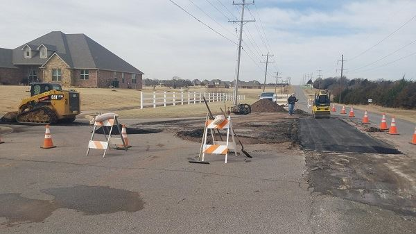 progress on 10th St road repairs as of 021419